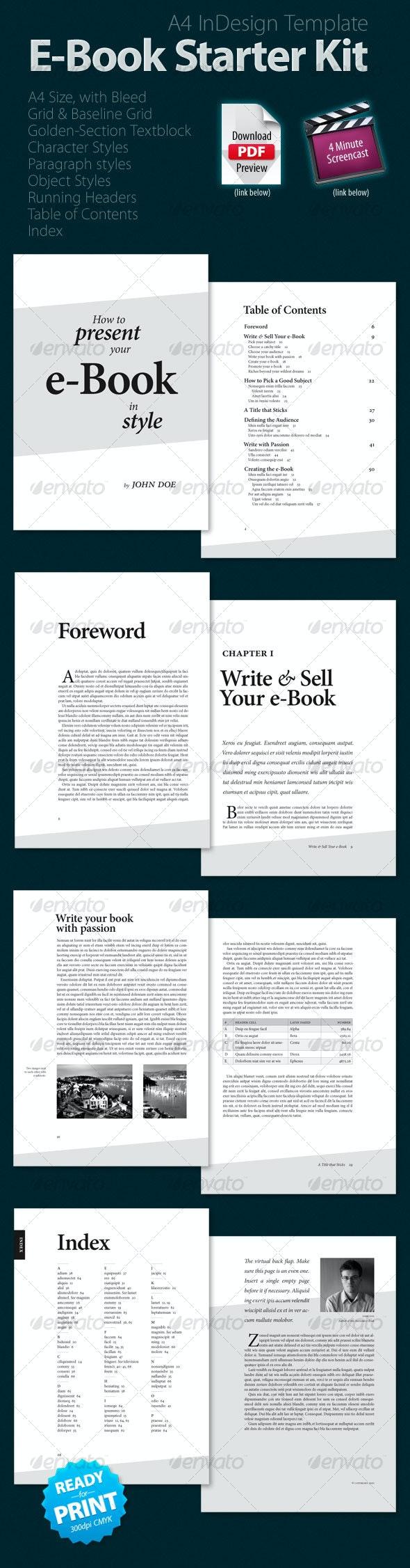 E-Book Starter Kit - Miscellaneous Print Templates