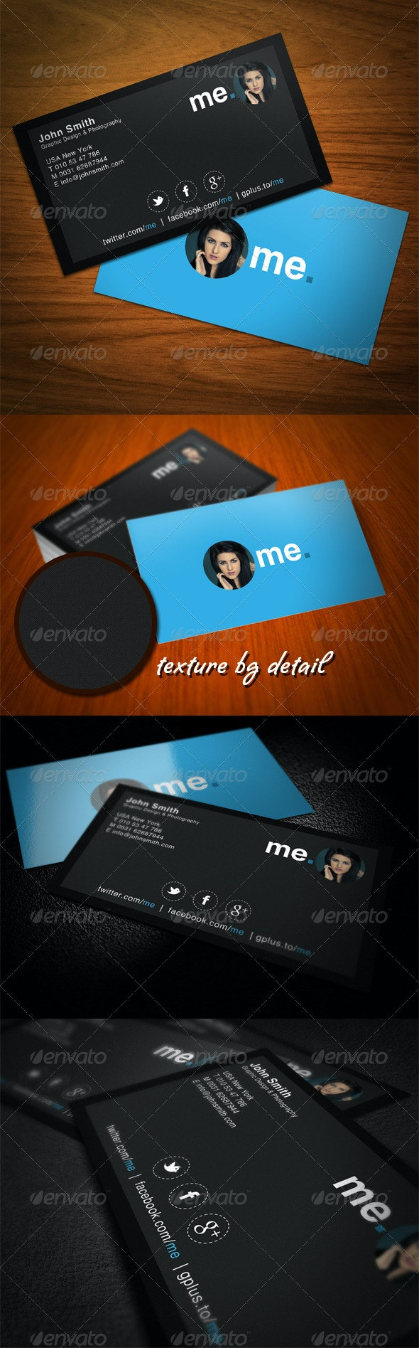 Modern Clean Business Card - Business Cards Print Templates