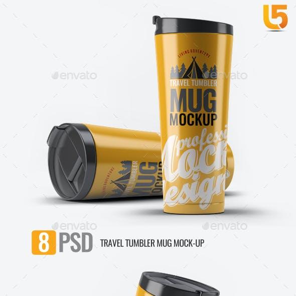 Travel Tumbler Mug Mock-Up