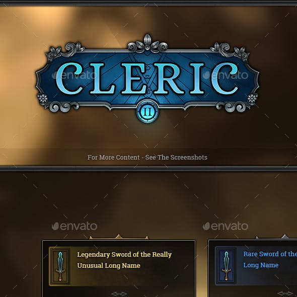Cleric - RPG User Interface