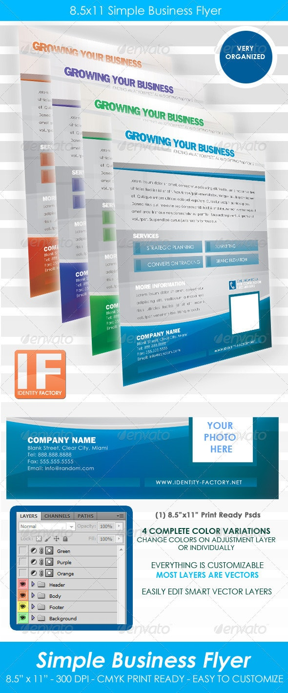 Simple Business Flyer 8.5x11 - Corporate Flyers