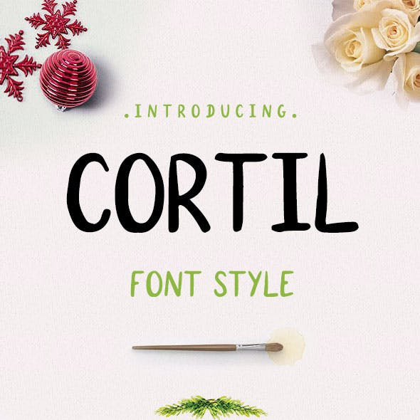 Cortil - Handmade Font Style
