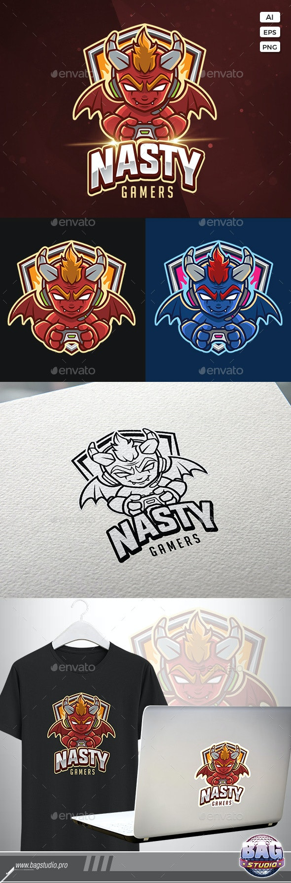 Devil Gamer Esport Logo - Sports Logo Templates