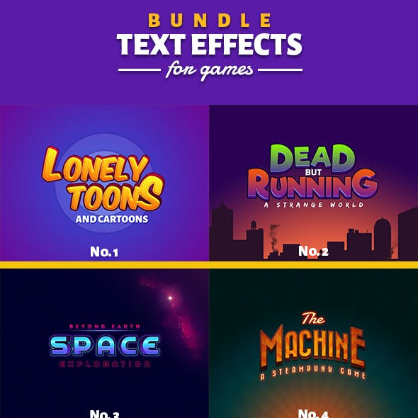 Text Effects For Games Bundle 1-3