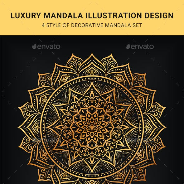 Luxury Mandala Illustration Design