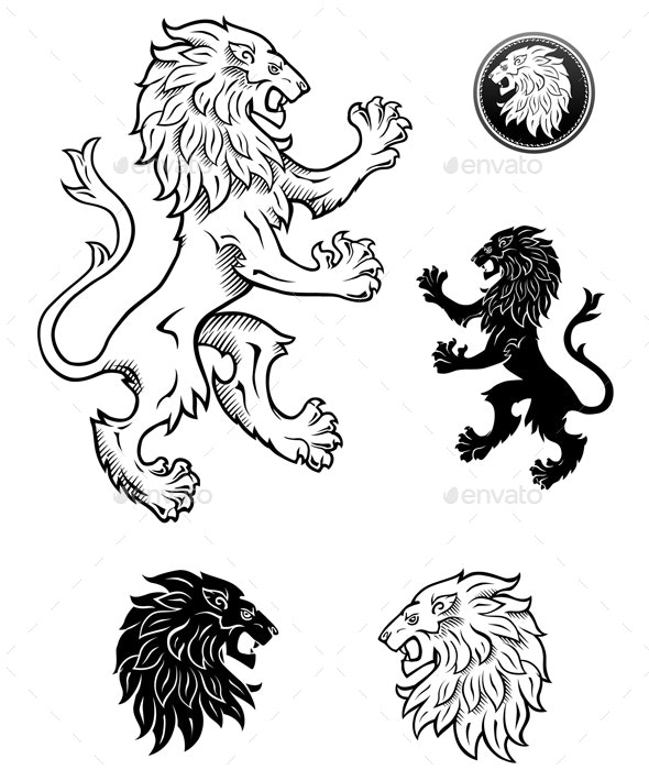 Lions Drawings - Animals Characters
