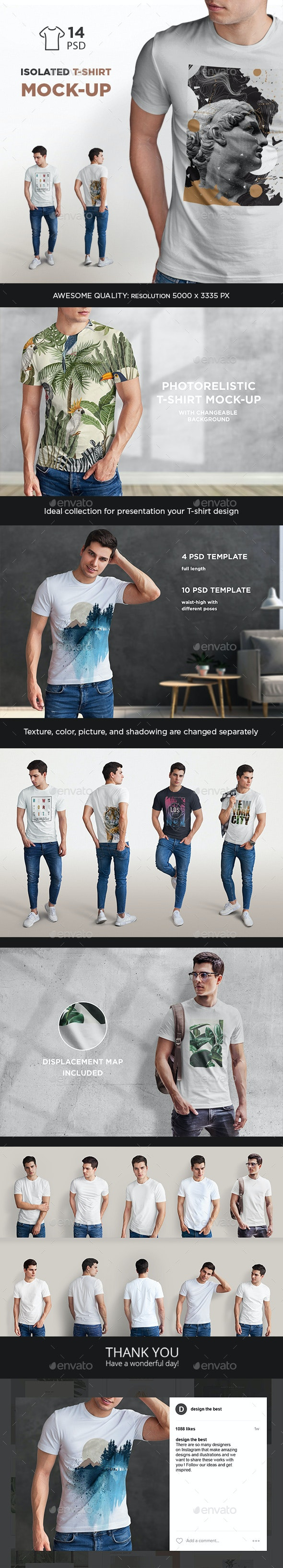 Isolated T-Shirt Mock-Up - T-shirts Apparel