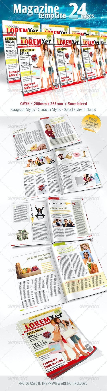 Standard Magazine Template - Magazines Print Templates