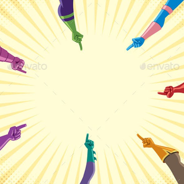Superhero Hands with Pointing Fingers