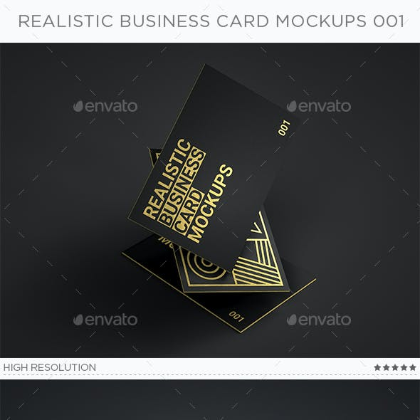 Realistic Business Card Mockups v1