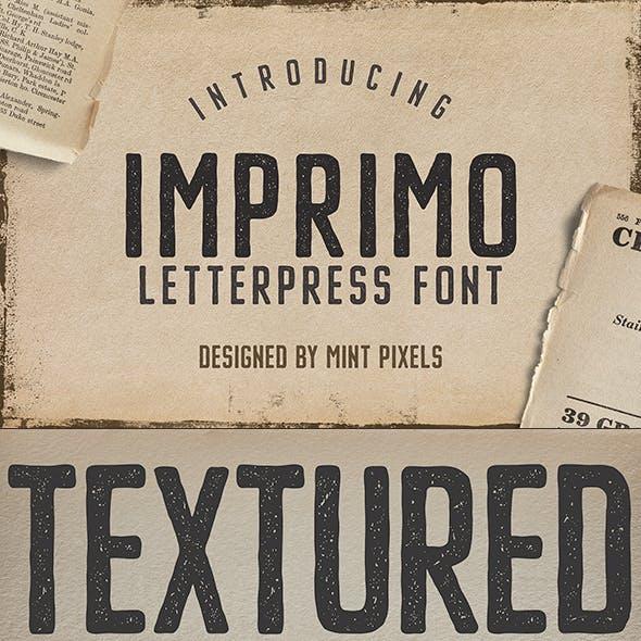 Imprimo Letterpress Font