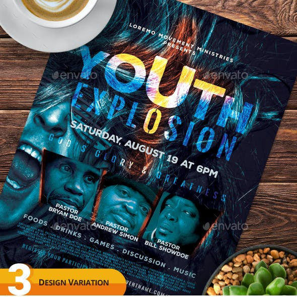Youth Explosion Flyer Templates