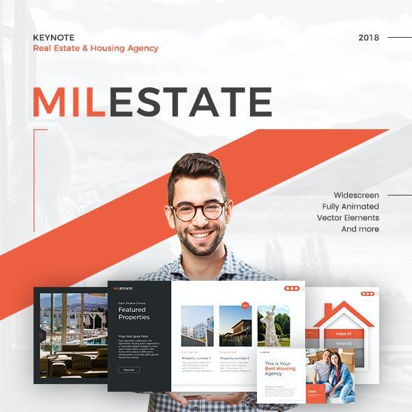 Milestate Real Estate Keynote Template