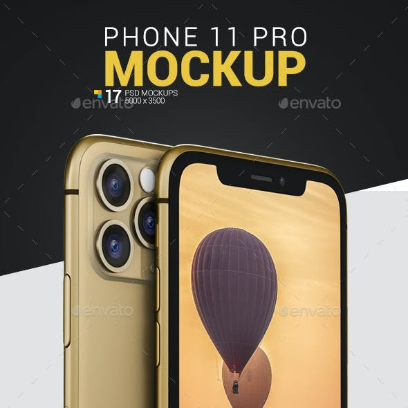 Phone 11 Pro Mockup Pack