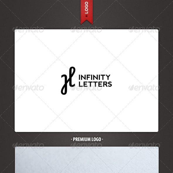 Infinity and H Letter Logo Template