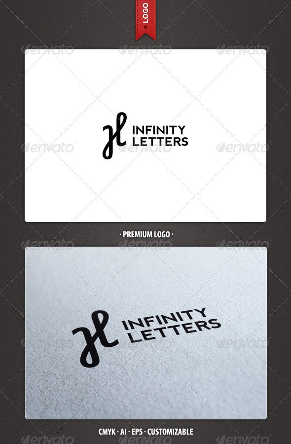 Infinity and H Letter Logo Template - Letters Logo Templates