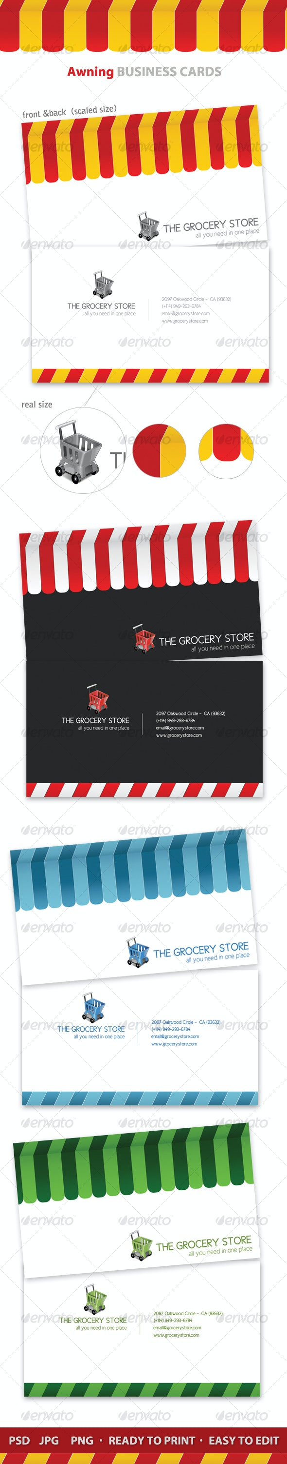 Awning Business Cards x 4 - Industry Specific Business Cards