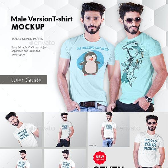Male t-shirt Mockup-V-2-003