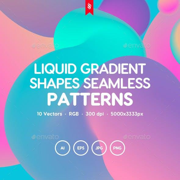 Liquid Gradient Shapes Seamless Patterns