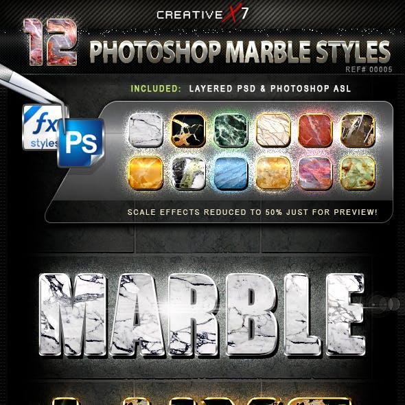 CreativeX7 - 12 Photoshop Marble Styles