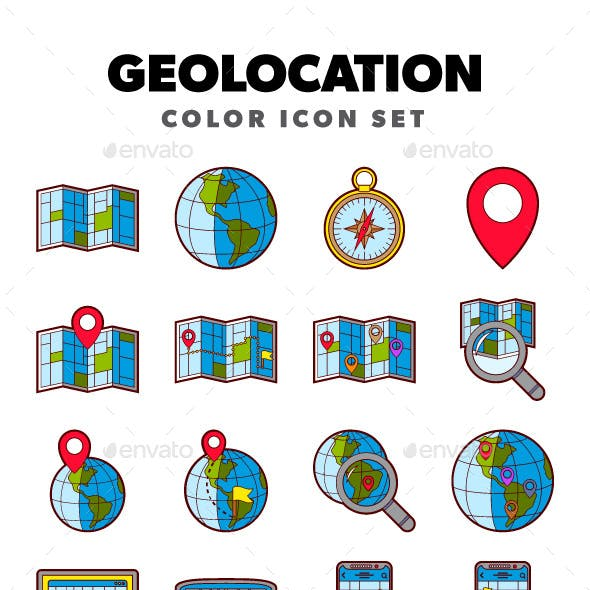 Geolocation - Color Icon Set