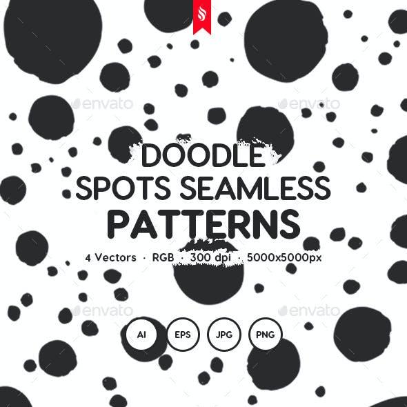 Doodle Spots Seamless Patterns