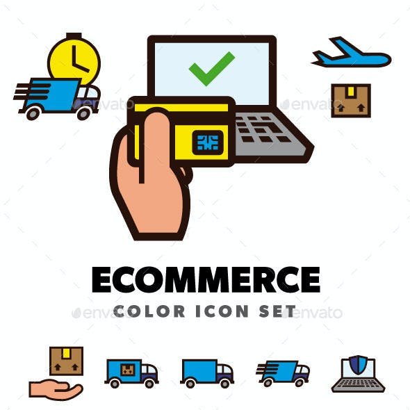 Ecommerce Color Icon Set