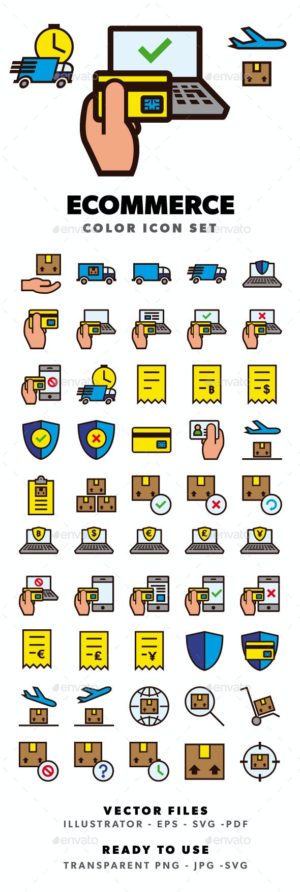 Ecommerce Color Icon Set - Business Icons