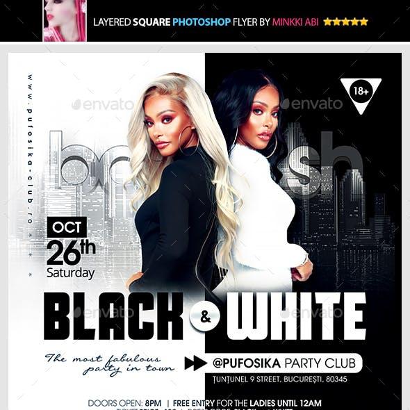 Black & White Bash Flyer