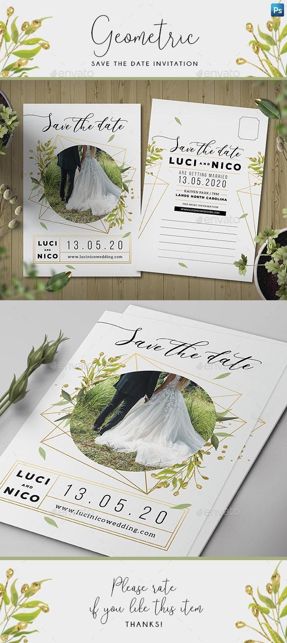 Geometric Save the Date Invitation - Weddings Cards & Invites