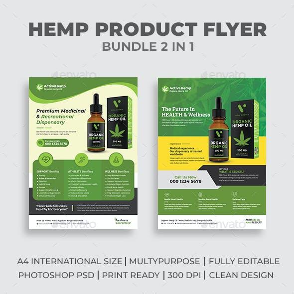 Hemp Product Flyer Bundle 02