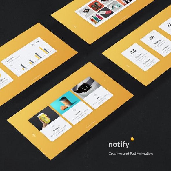 Notify - Animated & Creative Presentation Template (KEY) - Creative Keynote Templates