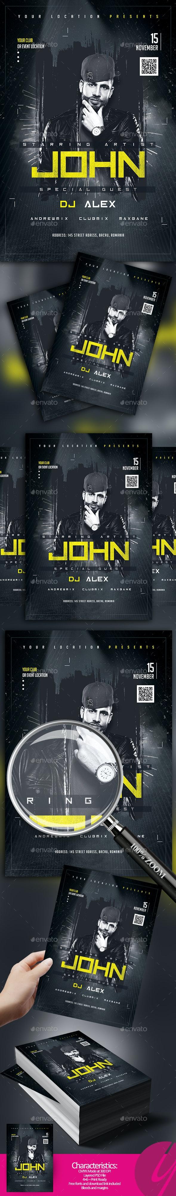 DJ Artist Flyer - Clubs & Parties Events
