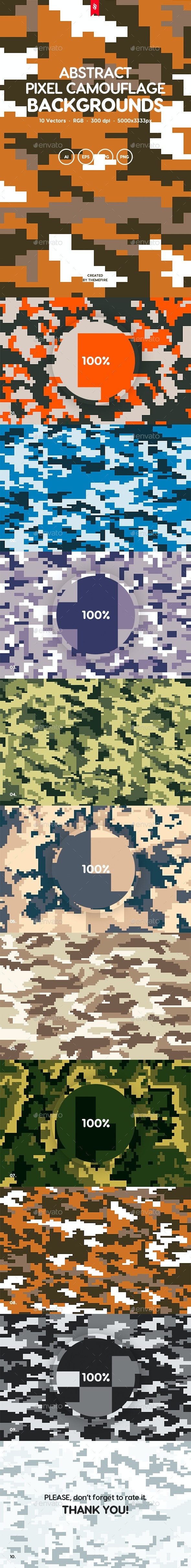 Pixel Camouflage - Backgrounds Graphics