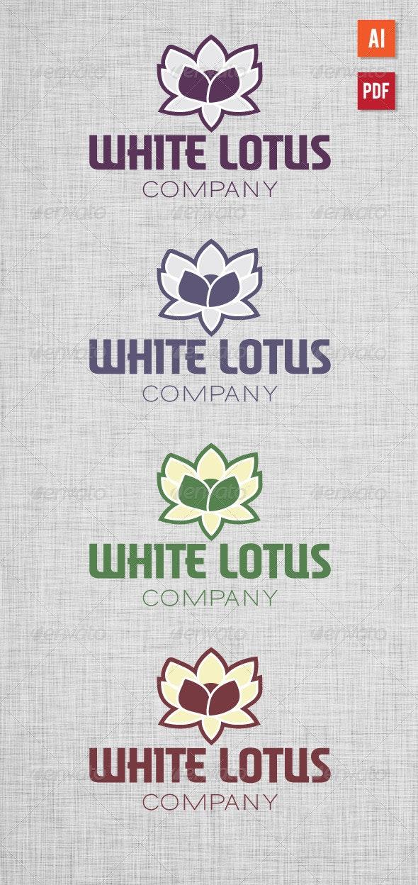 White Lotus Logo - Nature Logo Templates