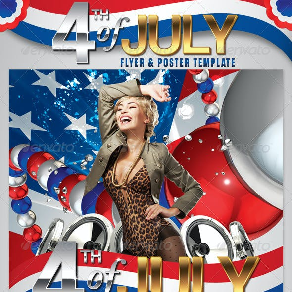 4th of July Flyer and Poster Template
