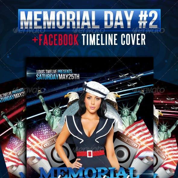 Memorial Day Weekend Flyer + Facebook Cover
