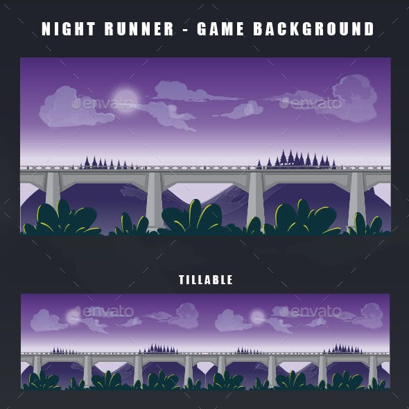Night Runner - Game Background