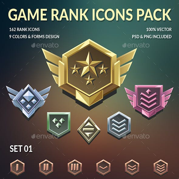 Game Rank Icons Pack
