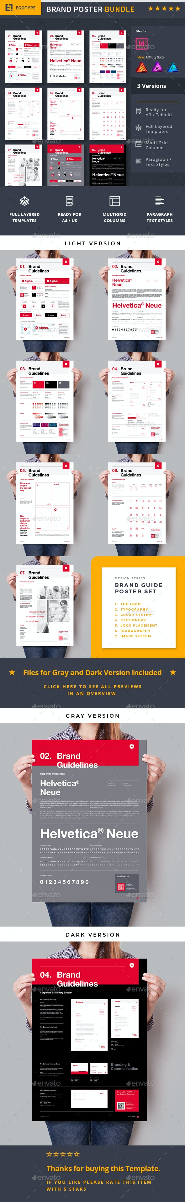 Brand Manual Bundle - Flyers Print Templates