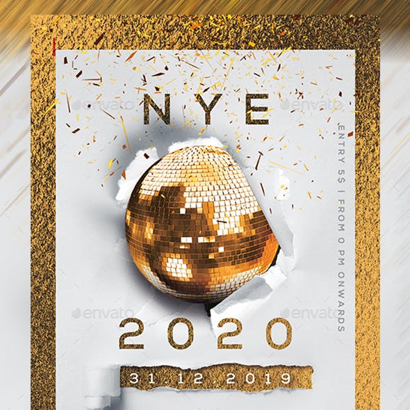 2020 New Year Party Flyer