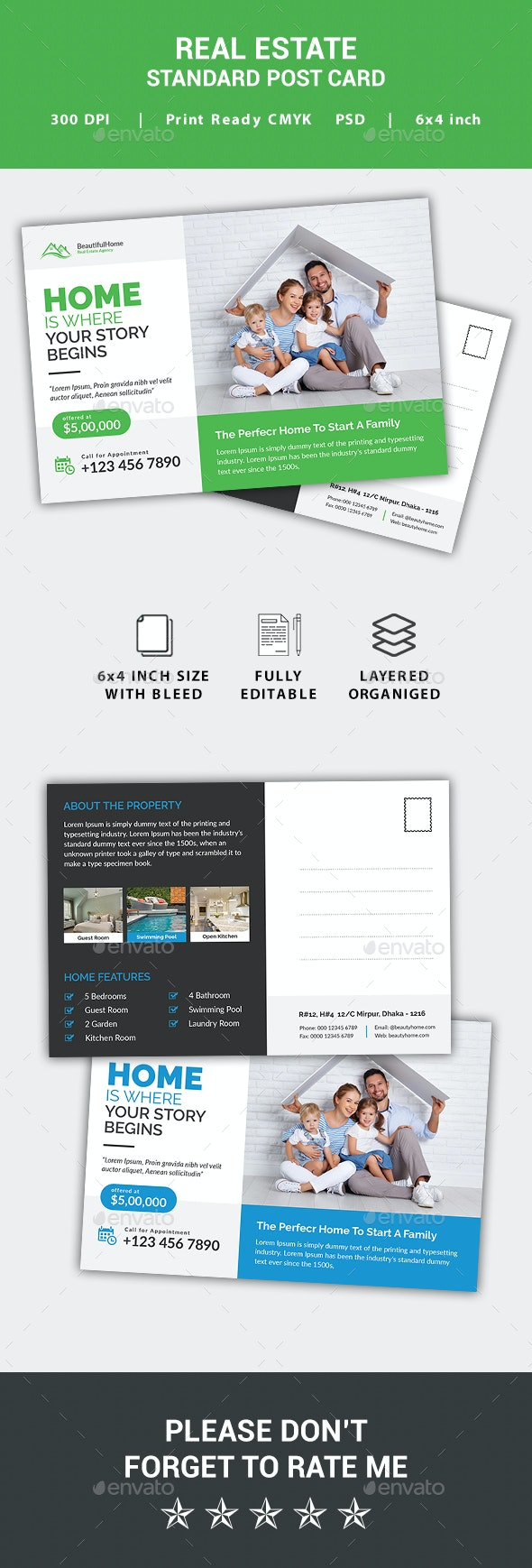 Real Estate Postcard - Cards & Invites Print Templates