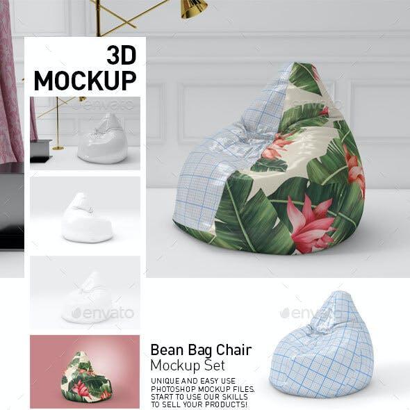 Bean bag Chair Mockup