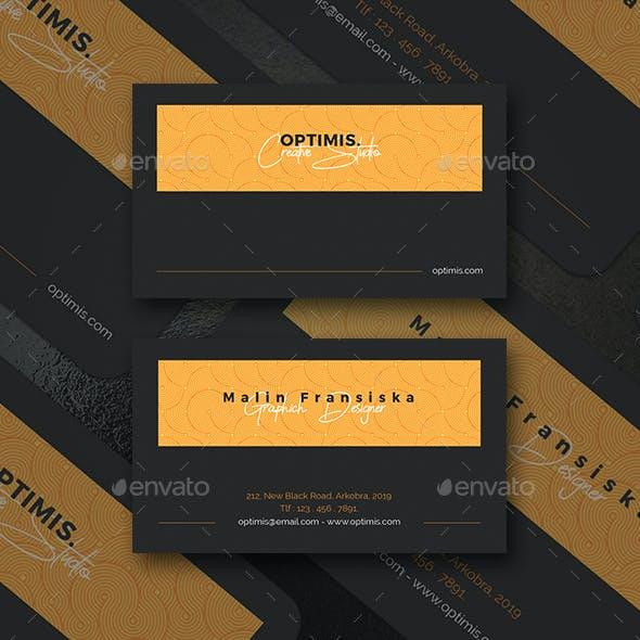 Pattern Dark Version Creative Business Card