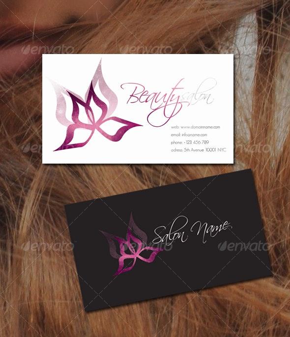 Beauty/Flower Business Card - Creative Business Cards