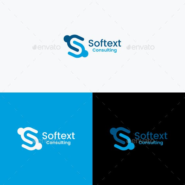 Softext Logo Template / S Letter