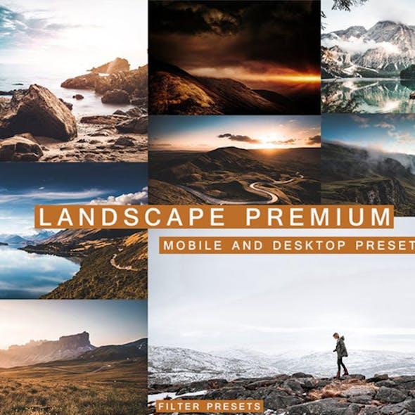 6 Landscape Lightroom Presets Premium for Mobile and Desktop