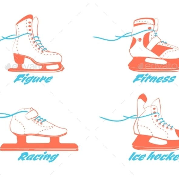 Set of Different Ice Skates