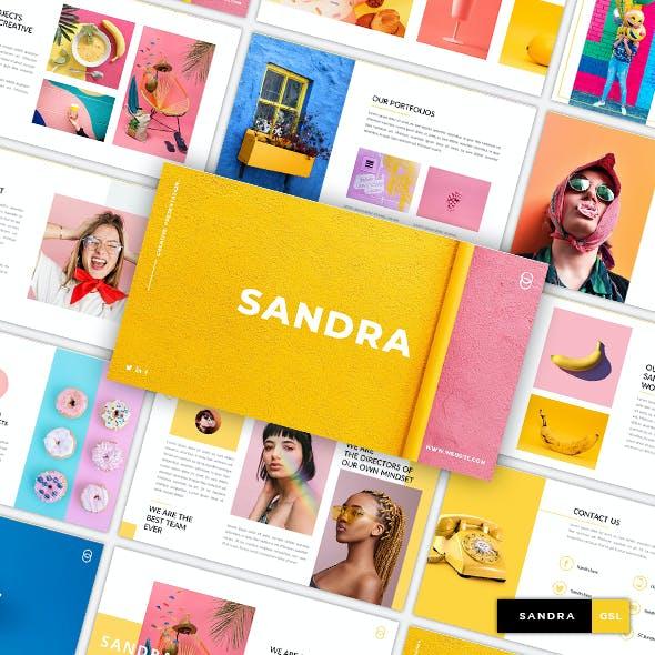 Sandra - Creative & Business GoogleSlide Template