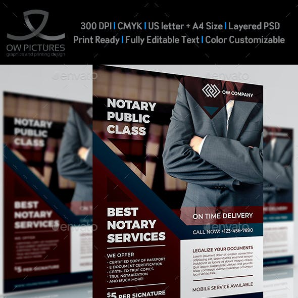 Notary Services Flyer Template